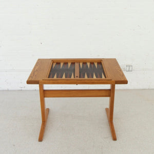 Vintage Danish Backgammon Game Table