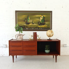 Load image into Gallery viewer, Norway Stamped Teak Credenza