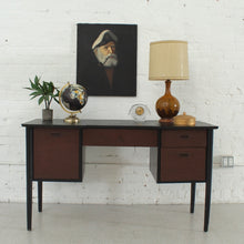 Load image into Gallery viewer, Black Top Mid Century Desk