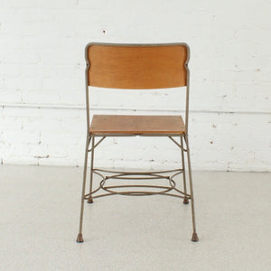 Four Industrial Metal Dining Chairs