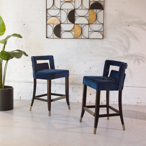 Hyatt Blue Counter Stools