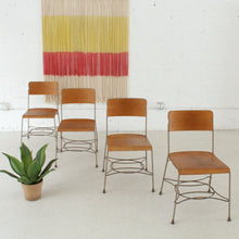 Load image into Gallery viewer, Four Industrial Metal Dining Chairs