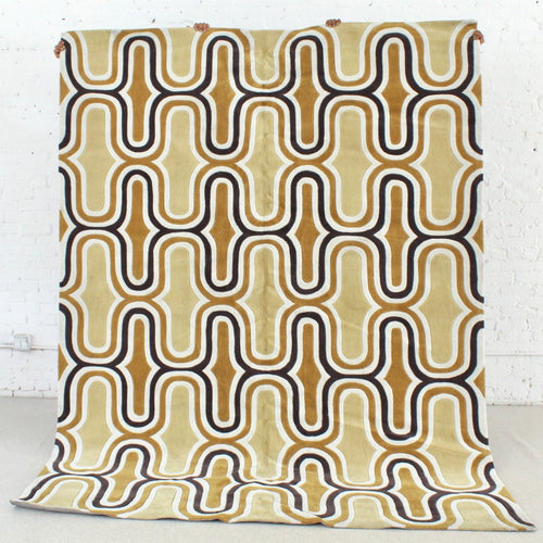 Honeycomb Rug in Yellow and Mustard