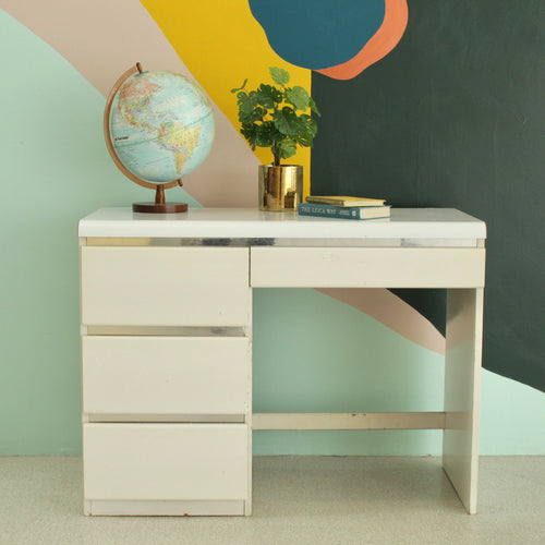 1980's Chrome & White Desk