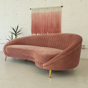 Selena Dusty Rose Pleated Sofa