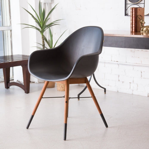 Black Molded Plastic Chair