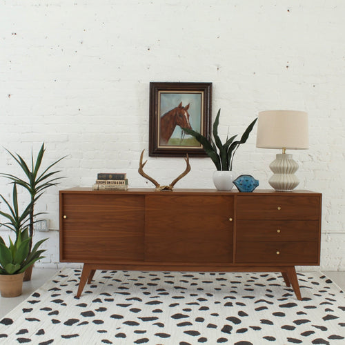 Natalia Walnut Three Drawer Sideboard