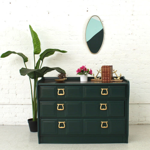 Six Drawer Hollywood Regency Chest of Drawers