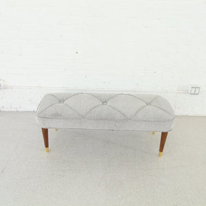Blair Gray Tweed Bench