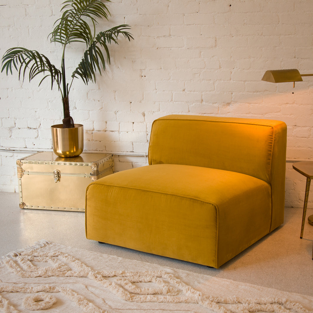 Citron Velvet Lounge Chair