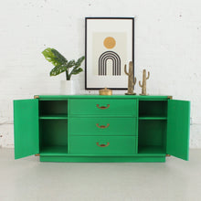 Load image into Gallery viewer, Kelly Green Drexel Bureau Buffet