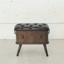 Load image into Gallery viewer, Tufted Leather Bench with Storage