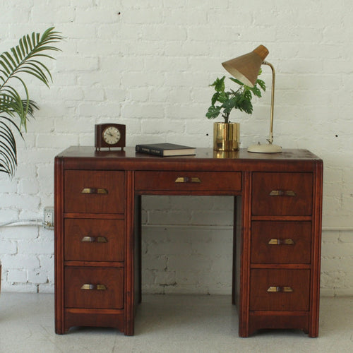 Art Deco Double Pedestal Desk