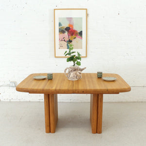 Solid Oak Boho Restored Dining Table