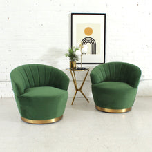 Load image into Gallery viewer, Priscilla Jewel Green Swivel Chair
