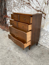 Load image into Gallery viewer, 1950's Highboy Walnut Dresser