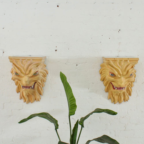 Fiberglass Lion Head Mantles