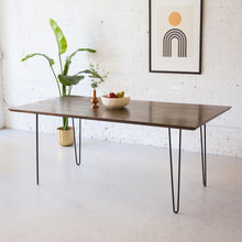 Load image into Gallery viewer, Solid Wood Repurposed Dining Table w/ Hairpin Legs