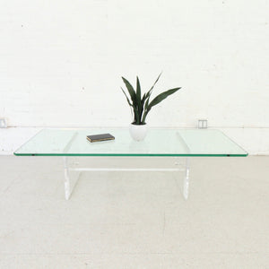 Glass & Lucite Coffee Table