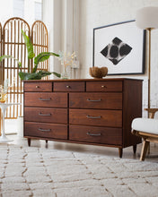 Load image into Gallery viewer, Solid Walnut Nine Drawer Dresser One Two
