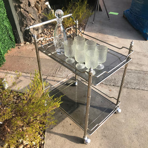 Hollywood Regency Bar Cart