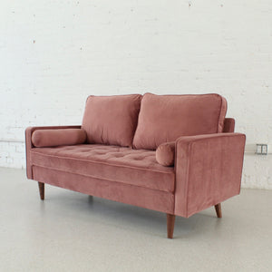 Mia Dusty Pink Loveseat