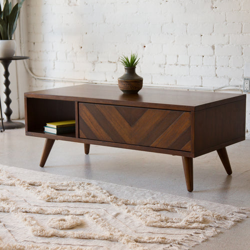 Chevron Coffee Table - As Is