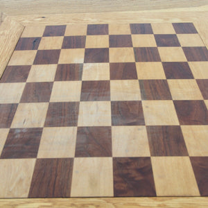 Danish Checkered Teak Foldable Dining Table