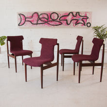 Load image into Gallery viewer, Deep Fuschia Dining Chairs Reupholstered
