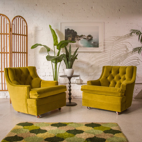 Chartreuse Green Parlor Chair