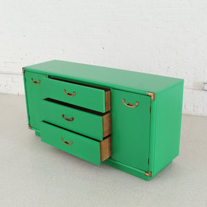 Kelly Green Drexel Bureau Buffet