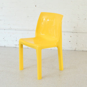 Yellow Atomic Mod Chair