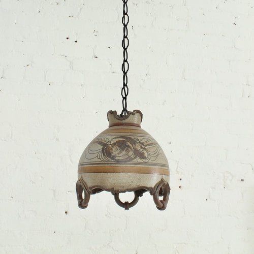 Stoneware Speckled Hanging Lamp