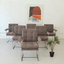 Load image into Gallery viewer, 1970's Chrome Dining Chairs Set of Six