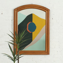 Load image into Gallery viewer, Wood Boho Mirror