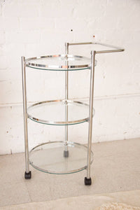 Three-Tier Chrome Bar Cart