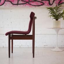 Load image into Gallery viewer, Deep Fuchsia Dining Chairs Reupholstered