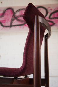 Deep Fuchsia Dining Chairs Reupholstered