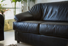 Load image into Gallery viewer, Italian Black Leather Sofa