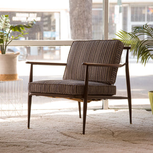 Striped Tweed Lounge Chair