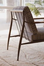 Load image into Gallery viewer, Striped Tweed Lounge Chair