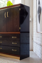 Load image into Gallery viewer, Ebonized Brass Highboy Dresser