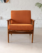 Load image into Gallery viewer, Burnt Orange Velvet Lounge Chair