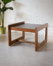 Load image into Gallery viewer, Black & Teak Danish End Table
