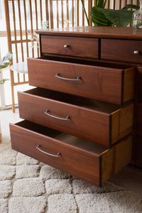 Solid Walnut Nine Drawer Dresser