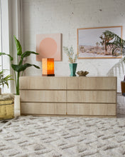 Load image into Gallery viewer, 1980's Faux Travertine Six Drawer Dresser