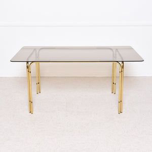 1970's Italian Smoked Glass Dining Table