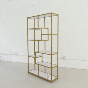 Valentina Faux Marble Gold Shelf
