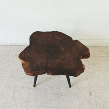 Load image into Gallery viewer, Live Edge Solid Wood Side Table