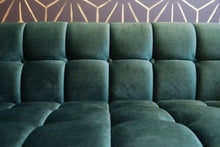 Load image into Gallery viewer, Melonie Dark Green Velvet Love Seat
